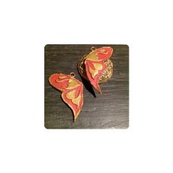 Handgefertigter Freundschaftsanhänger - Symbol eines Schmetterlings - ein Zweiteiler