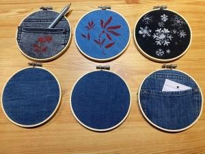 Utensilo für Kleinteile: HolzLoop mit Jeans - Handarbeit kaufen