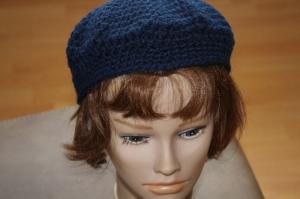 Baskenmütze dunkelblau - Handarbeit kaufen