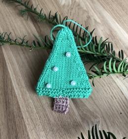 Weihnachtsschmuck Tannenbaum mit Perlen ⭐️ - Handarbeit kaufen