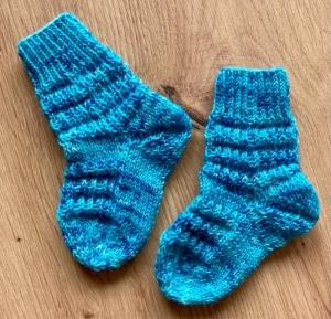Babysöckchen Mustersocken handgefärbte Wolle