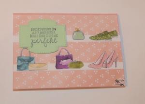 Geburtstagskarte ♡ Muttertagskarte ♡ mit Grußtext Handarbeit Stampin up! - Handarbeit kaufen