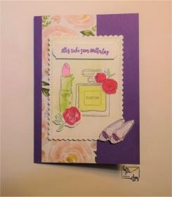 ♡ Muttertagskarte ♡ mit Grußtext Handarbeit Stampin up!  - Handarbeit kaufen