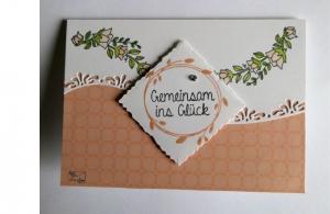 Stampin'up! Glückwunschkarte zur Hochzeit 3D Handgefertigt  - Handarbeit kaufen