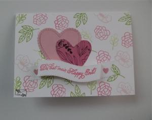 Stampin'Up! Glückwunschkarte zum ♡Valentinstag♡mit Grusstext und Herzen Handgefertigt  - Handarbeit kaufen