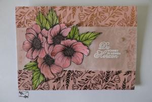 Stampin'Up! Glückwunschkarte zum ♡Valentinstag/Hochzeitstag♡ mit Grusstext und Blumen Handgefertigt - Handarbeit kaufen