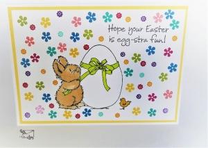 Glückwunschkarten zu Ostern mit Grusstext Handgefertigt aus Stampin'up! - Handarbeit kaufen