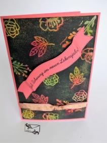 Geburtstagskarte mit Text Handgefertigt mit ©Stampin'Up Material Bunt - Handarbeit kaufen