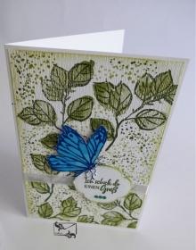 Stampin'Up! 3D Grußkarte mit Grußtext und Schmetterling Handarbeit  - Handarbeit kaufen