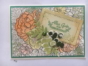 Glückwunschkarte zum ♡Geburtstag♡ Pastelltöne mit Grusstext Handgefertigt mit Stampin'Up Produkten - Handarbeit kaufen