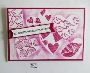 Glückwunschkarte zum ♡Geburtstag/Muttertag ♡ mit Grusstext Handgefertigt mit Retiform-Technik Stampin'Up  - Handarbeit kaufen