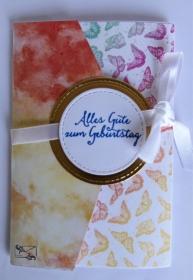 Geldkarte Gutscheinkarte - Geburtstagskarte besondere Form mit Grußtext Handarbeit  - Handarbeit kaufen