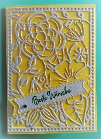 Stampin'Up! Grußkarten mit Grußtext Handarbeit Gelb/Weiß  - Handarbeit kaufen