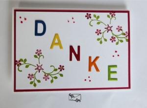 ♡ Danksagungskarte ♡ Bunt Handgefertigt mit Stampin'Up! ©  - Handarbeit kaufen