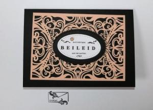 Beileidskarte Kondolenzkarte Trauerkarte Handgefertigt in Schwarz-Blüten Rosa  - Handarbeit kaufen