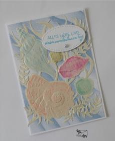 Maritime Freundschaftskarte / Geburtstagskarte mit Muscheln Stampin up! Handarbeit - Handarbeit kaufen