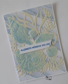 Maritime Grußkarte. Geburtstagskarte mit Muscheln Stampin up! Handarbeit  - Handarbeit kaufen
