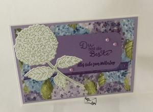 ♡ Muttertagskarte ♡ Grußkarte in Fliederfarben Handgefertigt Stampin'Up! - Handarbeit kaufen