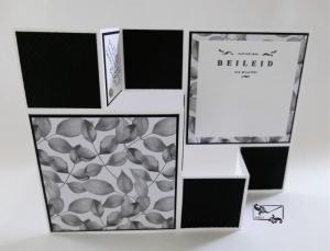 Beileidskarte gestaltet als 3D Große Faltkarte/Treppenkarte Schwarz-Weiß Handarbeit Stampin'Up! - Handarbeit kaufen