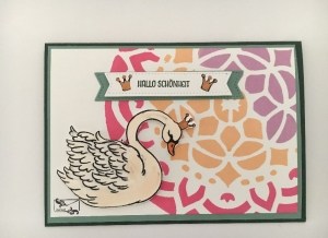 Glückwunschkarte zur Geburt/Taufe, Bunte Farben, Handarbeit , Mädchen, Stampin'Up! - Handarbeit kaufen