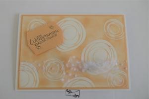 Liebevoll gestaltete Grußkarte zur Geburt/ Taufe eines neuen Erdenbürgers - Handarbeit kaufen