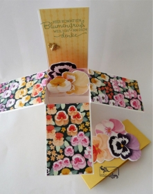 Besonders geformte Florale Grußkarte Glückwunschkarte Stampin up! - Handarbeit kaufen