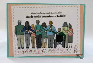 Bunte Freundschaftskarte Grußkarte / Stampin up! Handarbeit    - Handarbeit kaufen