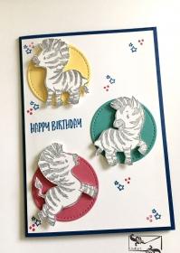3D Kinder Glückwunschkarte Geburtstagskarte Handgefertigt mit Stampin Up Produkten  - Handarbeit kaufen