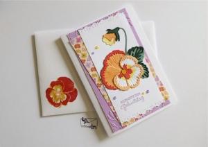Stilvolle Geburtstagskarte Grußkarte mit Stiefmütterchen ©Stampin up! - Handarbeit kaufen