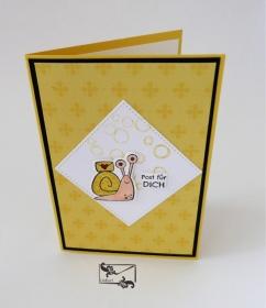 3D Kinder Glückwunschkarte Geburtstagskarte Handgefertigt mit Stampin Up Produkten Gelbtöne - Handarbeit kaufen
