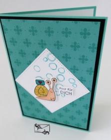 3D Kinder Glückwunschkarte Geburtstagskarte Handgefertigt mit Stampin Up Produkten Grüntöne - Handarbeit kaufen