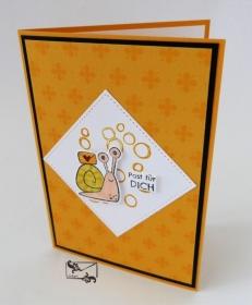 3D Kinder Glückwunschkarte Geburtstagskarte Handgefertigt mit Stampin Up Produkten  Orangetöne - Handarbeit kaufen