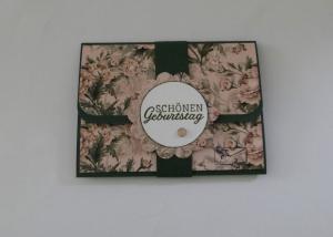 Geldkarte Gutscheinkarte - Geburtstagskarte Handarbeit -Floral - Handarbeit kaufen