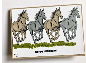 Pferdekarte Geburtstagskarte Grußkarte Stampin up! Handarbeit - Handarbeit kaufen