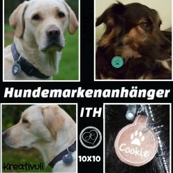 Stickdatei Hundemarkenanhänger  *Antigeklapper*  ITH 10x10 - Handarbeit kaufen