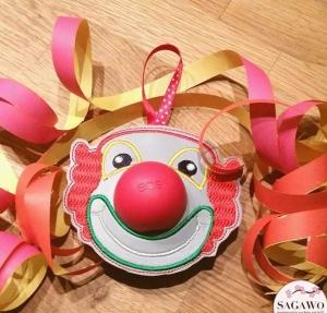 Stickdatei * Clown Eros * 10x10  Kugelhalter  ITH - Handarbeit kaufen
