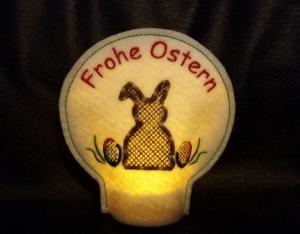 Stickdatei * Osterhase LED Licht Lichterhülle * 10x10  ITH  - Handarbeit kaufen