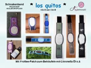 Stickdatei * los quito * Schnaken- Armband + Anhänger Set, 10x10+13x18 ITH   - Handarbeit kaufen