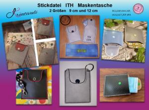 Stickdatei * Maskentasche * ITH, 2 Größen, 9 cm und 12 cm (13x18 Rahmen) - Handarbeit kaufen