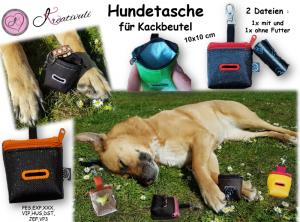Stickdatei  *Hundetasche*  2 Versionen ITH  10x10  für Kackbeutel