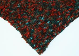 Dreieckstuch in der Farbkombination Orange-Braun-Grün mit Noppen - Handarbeit kaufen