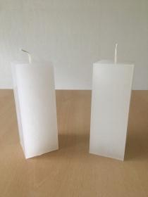 selbst gemachte Paraffinwachs Quadrat  Kerze Natur - Handarbeit kaufen