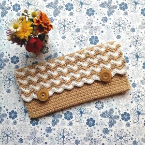 Täschchen Handyhülle Brillenetui Tabaktasche aus Baumwolle gehäkelt - Handarbeit kaufen