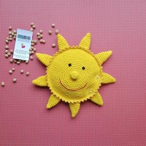 Sonne Kirschkernkissen Wärmekissen Tränchentrockner Sonnenschein Kuschelsonne personalisierbar handgehäkelt