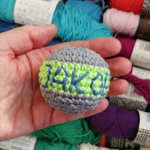 Dreier-Set Jonglierbälle gehäkelt mit Kirschkernen gefüllt, personalisiert mit Kurzanleitung ⭐ Jonglieren lernen ⭐ - Handarbeit kaufen