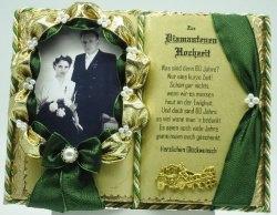 Deko-Buch Diamantene Hochzeit für Foto mit Holz-Buchständer