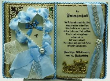 Deko-Buch zur Perlenhochzeit mit Holz-Buchständer