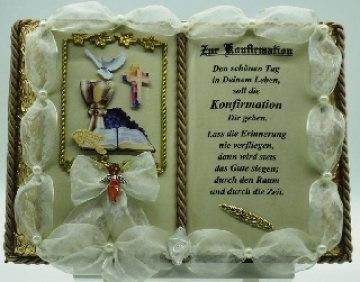 Konfirmation - Dekobuch (mit Holz-Buchständer)