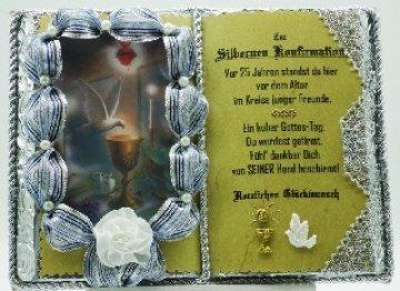 Silberne Konfirmation, 25-jähriges Firmjubiläum - Dekobuch
