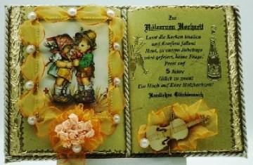 Hölzerne Hochzeit -5-jähriges Ehejubiläum-Dekobuch